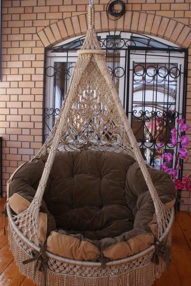 Плетеный кресло гамак своими руками
